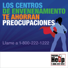 AAPCC National Poison Prevention Week Infographic Poison Centers Save Spanish IG 1080×1080 Woman
